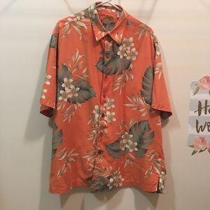 Caribbean silk cotton blend Hawaiian shirt XL
